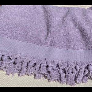 Double Sided Oversize Fringe Detailed Cotton Towel
